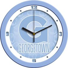 New - Georgetown Hoyas-Baby Blue Wall Clock