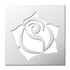Pochoi r Rose Stencil Patterns, Stencil Designs, Applique Designs, Rosa Stencil, Stencil Painting, Kirigami, Quilled Roses, Bijoux Art Deco, Graffiti Painting
