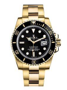 Rolex Gold Blackl Submariner 116618 K