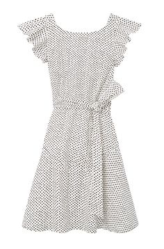 Black-and-white polka dots are featured on the playful silhouette of the La Vie Corinne Dot Dress. Dress Images, Bateau Neckline, Rebecca Taylor, Little Miss, Dot Dress, Dots, Glamour, Women's Fashion, Black And White