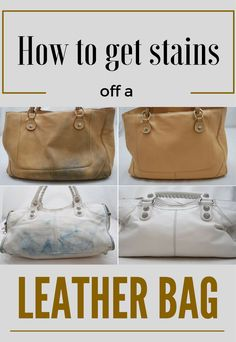 How To Get Stains Off A Leather Bag - Cleaning-Ideas.com