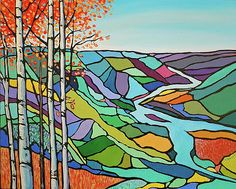 """""""Autumn in the Peace""""...here in the northern part of BC, the Peace River is in jeopardy due to the building of the Site C dam.  The valley is absolutely beautiful in the fall, with the bright leaves and foliage."""