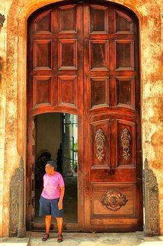 Havana, Cuba - I love old doors Matanzas Cuba, Cuban Architecture, Viva Cuba, Nostalgia, Cuba Travel, Island Nations, Havana Cuba, Old Doors, Caribbean Sea