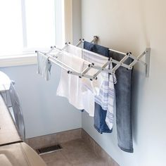 Greenway Indoor/Outdoor Foldable Drying Rack, with Optional – The Home Depot – Laundry Room İdeas 2020 Laundry Room Drying Rack, Drying Rack Laundry, Clothes Drying Racks, Laundry Closet, Small Laundry Rooms, Laundry Room Organization, Laundry Room Design, Laundry Decor, Clothing Racks