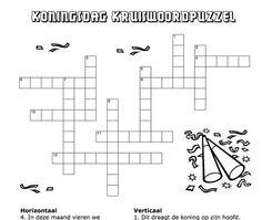 Kruiswoordpuzzel koningsdag - Klik voor de PDF.