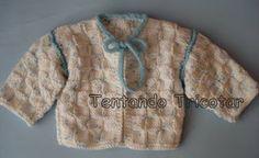 Tentando Tricotar: Casaquinho quadriculado