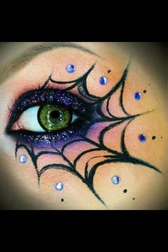 Something big and obvious would be easier to draw and still look nice  Water drop cobweb eye makeup