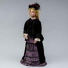 Nukke, Brunseid, k 68 cm, kasvot, jalat ja kädet keramiikkaa. Victorian, Dresses, Fashion, Vestidos, Moda, Fashion Styles, Dress, Fashion Illustrations, Gown