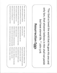Resurrection eggs, printable labels