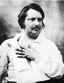 Honoré de Balzac (20 May 1799 – 18 August 1850) the French novelist and playwright from an 1842 daguerrotype.