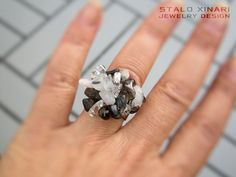 Crystal clear smoky quartz and tourmalated by SXtheArtConcept