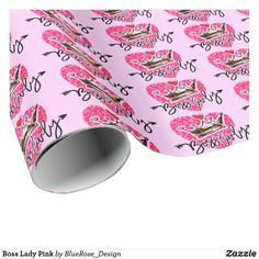 Boss Lady Pink Wrapping Paper