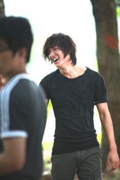 Lee Min Ho; even sexier when he laughs....if that's possible. Haha.
