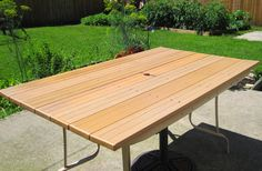 replace the glass top with diy top made out of composite wood