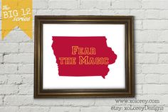 Game Day Decor The Big 12 Series  IOWA STATE by xoLoreyDesigns
