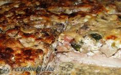Borított csirkecomb recept LigetiK konyhájából - Receptneked.hu Quiche, Bacon, Cooking, Breakfast, Food, Gastronomia, Kitchen, Morning Coffee, Eten