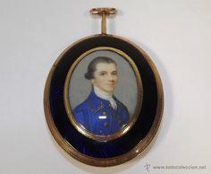 Importante óvalo pendentif. Inglaterra siglo XVIII. Pieza espectacular / Joyas antiguas en todocoleccion
