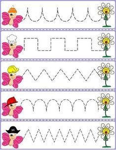 """Trace The Pattern: Bees to Beehives Cards. Help your child develop their pre-writing and fine motor skills with """"Trace the Pattern"""" printable cards. Art Activities For Toddlers, Preschool Learning Activities, Preschool Printables, Preschool Worksheets, Pattern Worksheet, Community Helpers Preschool, Preschool Writing, Alphabet For Kids, Tracing Worksheets"""