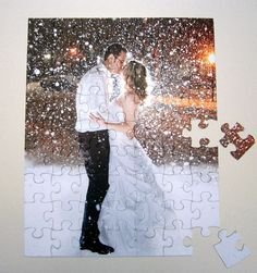 Wedding Guest Book Puzzle featuring Large by MissingPiecePuzzleCo, $31.00