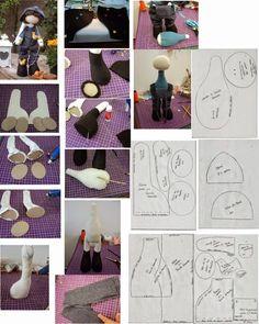 Compartilhando Moldes: Técnica para boneco ficar em pé