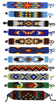 Native American Loom Beading Patterns Free Non Native Beading Patterns, Seed Bead Patterns, Beaded Jewelry Patterns, Weaving Patterns, Bead Jewelry, Art Patterns, Knitting Patterns, Color Patterns, Mosaic Patterns