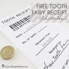 Free Free Tooth Fairy Receipt Template Printable -- K knows it isn't real, but wants me to dress up like the fairy! This is perfect! Tooth Fairy Receipt, Receipt Template, Invoice Template, Cool Diy Projects, Kid Projects, Project Ideas, Crafts To Make, Kids Crafts, Cleaning Hacks