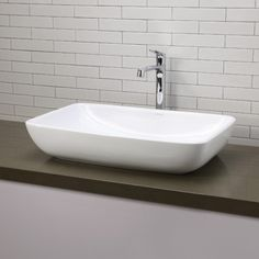 Shop Decolav Classically Redefined Above Counter Rectangular Vessel Sink at Lowe's Canada. Find our selection of vessel sinks at the lowest price guaranteed with price match + off. Bathroom Sink Organization, Bathroom Sink Design, Diy Bathroom Vanity, Bathroom Furniture, Small Bathroom, Master Bathroom, Bathroom Ideas, Gold Bathroom, Wooden Furniture