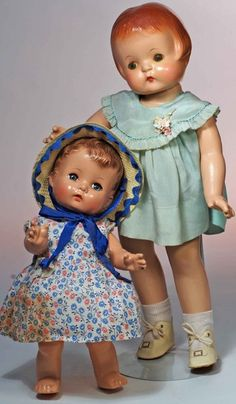 """299: TWO EFFANBEE COMPOSITION DOLLS -""""PATSY ANN"""" & """"CAN : Lot 299"""