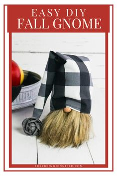 DIY Gnome Tutorial - This easy DIY Gnome is perfect for an entryway or mantle. It's seriously cute and making this fall sock gnome was definitely the highlight of my week! Fall Crafts, Arts And Crafts, Gnome Tutorial, Fun Fall Activities, Christmas Gnome, Autumn Inspiration, Mantle, Gnomes, Highlight