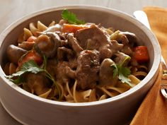 Pressure Cooker Beef Stroganoff Recipe : Food Network Kitchen : Food Network - FoodNetwork.com