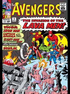 Avengers - Issue #5 - Marvel Comics - The Invasion of the Lava Men!