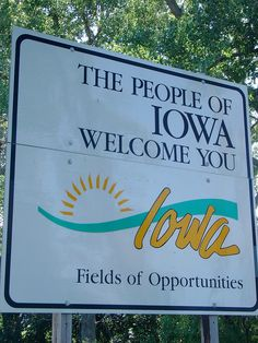 The People of Iowa Welcome You Sign (Monona County, Iowa) by courthouselover, via Flickr