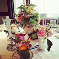 Tea party shower centerpiece Blush Custom Weddings