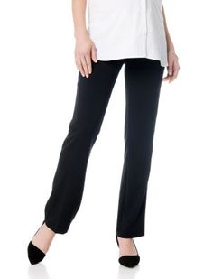 fa625081b4951 maternity pants secret fit belly - ® us patent nos. and 7900276 straight leg  back pockets 30 inch inseam polyester blend bi-stretch suiting machine  washable ...