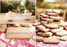 New Orleans style!  Cute favors.  This is also a cute site for some other ideas.