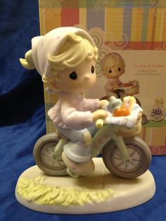 Precious Moments Figurine ~ The Road to a Friend is Never Long ~ C0024 ~ Bicycle