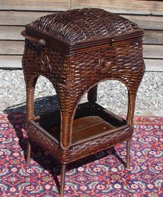 Antique Wicker Sewing/Knitting Basket $495