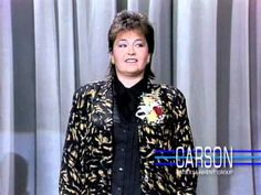 """Roseanne Barr Makes Her TV Appearance Ever on """"The Tonight Show"""" -- 1985 Roseanne Tv Show, Roseanne Barr, Here's Johnny, Johnny Carson, Tonight Show, First Tv, Domestic Goddess, Old Tv Shows, Stand Up Comedy"""