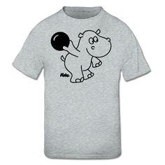 Bowling Hippo Kinder T-Shirt