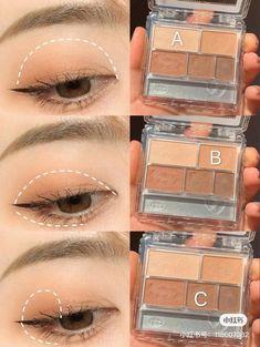 Contour Makeup, Eyeshadow Makeup, Makeup Art, Makeup Ideas, Ulzzang Makeup Tutorial, Makeup Looks Tutorial, Korean Eye Makeup, Asian Makeup, Makeup Order