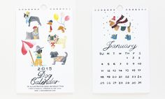 2015 Dogs Calendar by Lydia & Pugs