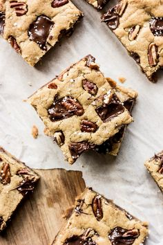 Salted Chocolate Chunk Blondies — The Whole Bite