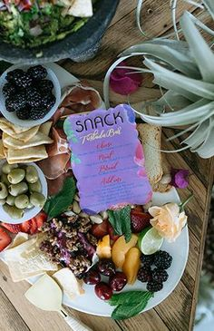 Because every Girl Boss Brunch needs a snack menu. Personalized acrylic blocks make for a perfect and classy menu! Cook Up A Storm, Tasty, Yummy Food, Perfect Party, Girl Boss, Sweet 16, Brunch, Menu, Just For You