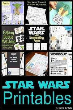 Free Star Wars Printables // In Our Pond // kids // may the fourth // star wars // disney // kids activities // road trips // travel // travel with kids // educational printables // homeschooling // math Star Wars Day, Star Wars Kids, Disney Star Wars, Educational Activities, Activities For Kids, Disney Activities, Group Activities, Therapy Activities, Star Wars Classroom