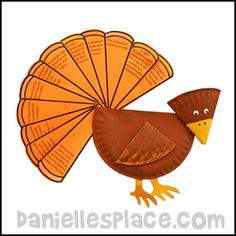 Thanksgiving Craft - Turkey Craft - The Story of Thanksgiving Paper Plate Turkey Craft from www.daniellesplace.com