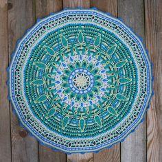 blue #crochet mandala pattern by carocreated