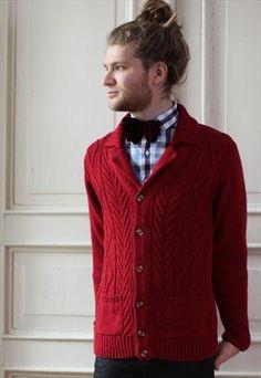 Vintage Knitted Mens Cardigan