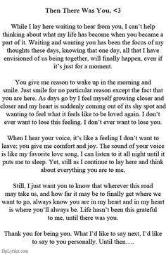 Emotional letter to boyfriend
