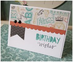 CTMH Chalk it Up Birthday Card - Paper Therapy by Angela Fehr