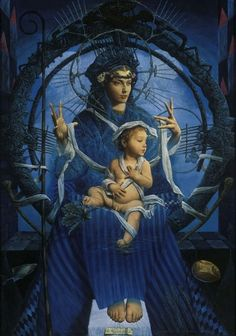 By Zeljko Tonsic Ancient Goddesses, Our Lady Of Sorrows, Queen Of Heaven, Hail Mary, Madonna And Child, Couple Quotes, Artist Names, Mothers Love, Mother And Child